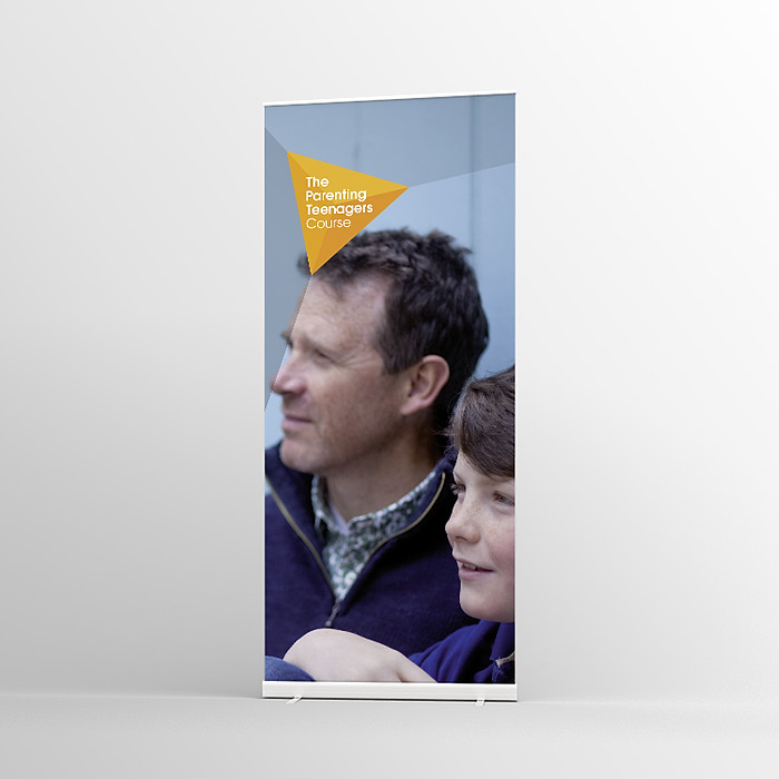 The Parenting Teenagers Course Pull-up banner Version 4 - Standard Pull-up Banner