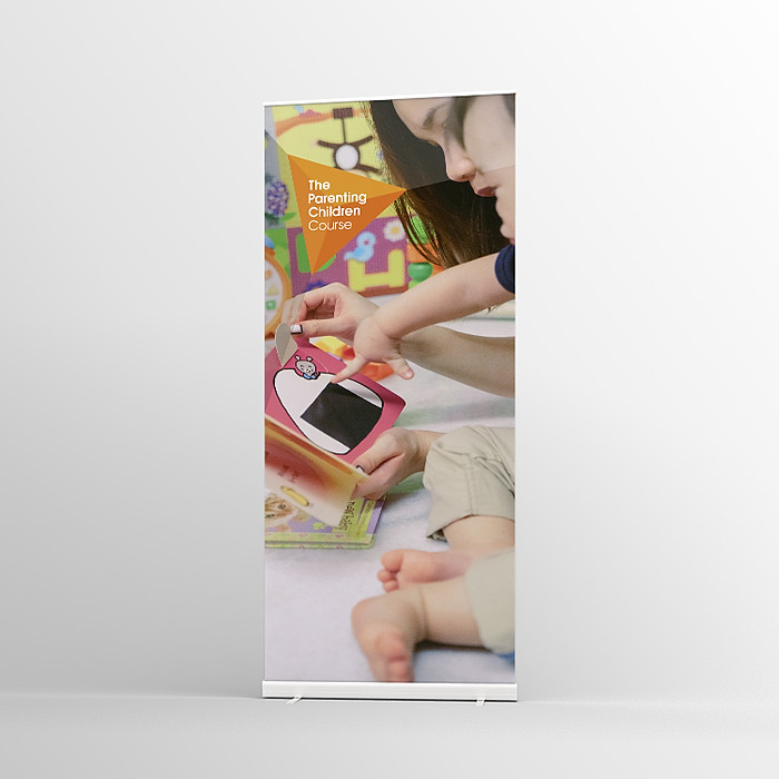 The Parenting Children Course Pull-up banner Version 2 - Standard Pull-up Banner